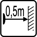 Minimálna vzdialenosť od osvetlovaného objektu 0,5m