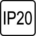 IP 20 - Stupe� IP ochrany svietidiel