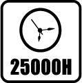 Svietivosť 25.000 hod.
