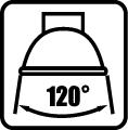 Uhol svietenia zdroja 120 stupňov