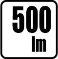 Svetelný tok v lumenoch - 500 lm