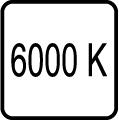 Teplota chromatickosti - 6000 K - Studené biele svetlo