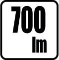 Svetelný tok v lumenoch - 700 lm