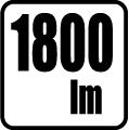 Svetelný tok v lumenoch - 1800 lm