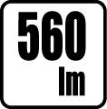 Svetelný tok v lumenoch - 560 lm