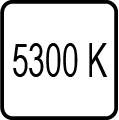 Teplota chromatickosti - 5300 K - Denné biele svetlo