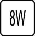 Maximálny príkon 8W