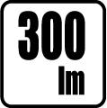 Svietivosť v lumenoch - 300 lm