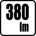 Svetelný tok v lumenoch - 380 lm
