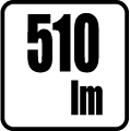 Svetelný tok v lumenoch - 510 lm
