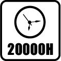 Svietivosť 20.000 hod.