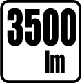 Svetelný tok v lumenoch - 3500 lm