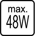 Maximálny príkon - 48W