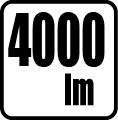 Svetelný tok v lumenoch - 4000lm