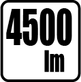Svetelný tok v lumenoch - 4500lm