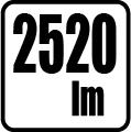 Svetelný tok v lumenoch - 2520 lm