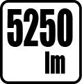 Svetelný tok v lumenoch - 5250 lm