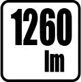 Svetelný tok v lumenoch - 1260 lm