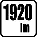 Svetelný tok v lumenoch - 1920 lm