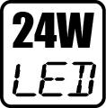Maximálny príkon LED - 24W