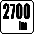 Svetelný tok v lumenoch - 2700 lm