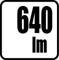 Svetelný tok v lumenoch - 640 lm