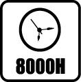 Svietivosť - 8.000 hod