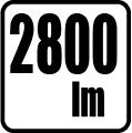 Svetelný tol v lumenoch - 2800 lm
