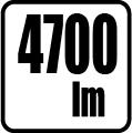 Svetelný tok v lumenoch - 4700 lm