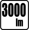 Svetelný tok v lumenoch - 3000 lm