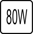 Maximálny príkon 80W