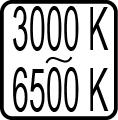 Teplota chromatickosti - 3000 K - 6500 K
