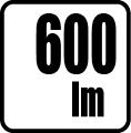 Svetelný tok v lumenoch - 600 lm