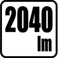 Svetelný tok v lumenoch - 2040 lm