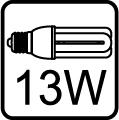 Maximálny príkon pri úspornej žiarivke 13W