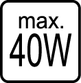 Maximálny príkon 40W