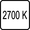 Teplota chromatickosti - 2700 K - Teplé biele svetlo