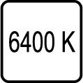 Teplota chromatickosti - 6400 K - Studené biele svetlo