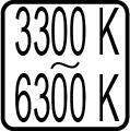 Teplota chromatickosti - 3300 K - 6300 K