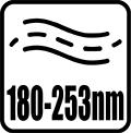 Vlnová dĺžka žiarenia 180-253 nm