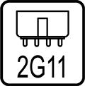 Pätica trubice 2G11