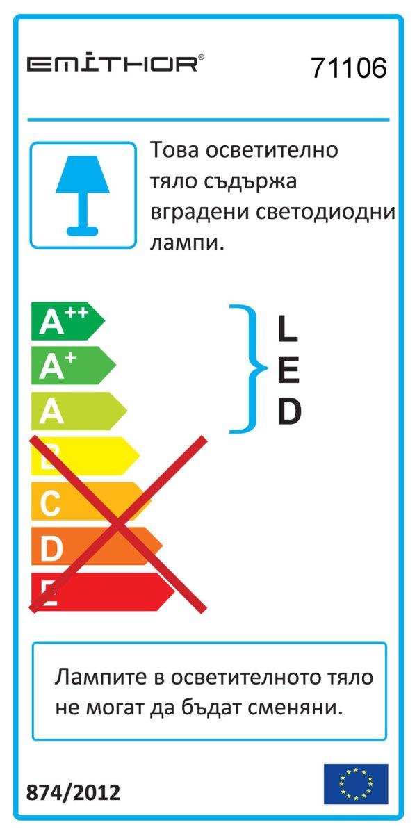 LED ЛУНА ЗА ВГРАЖДАНЕ АКРИЛ - DOWNLIGHT 71106