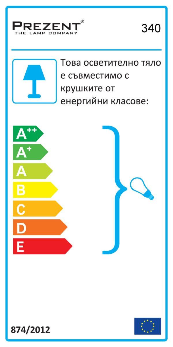СПОТ ПЛАФОН ZEUS CH/BLUE 340 - ПРОДУКТ НА РАЗПРОДАЖБА